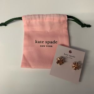 """New Authentic Kate Spade """"Bourgeois Bow"""" Earrings"""